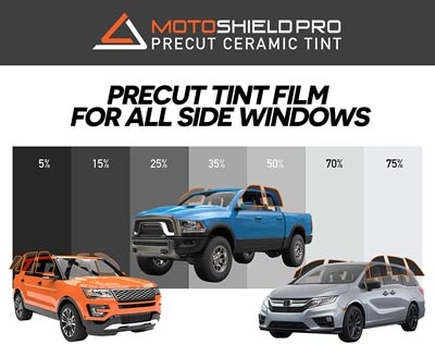 MotoShield Pro Pre-cut Ceramic Tint (for Trucks, SUVs and Minivans)