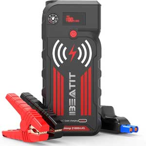 A powerful jump starter with a wireless charging pad?