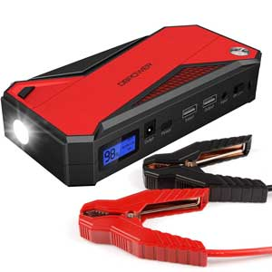 A portable booster pack with 12, 16, and 19 V DC out.
