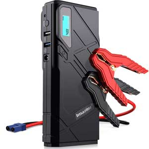A durable jump starter that checks on power and safety.